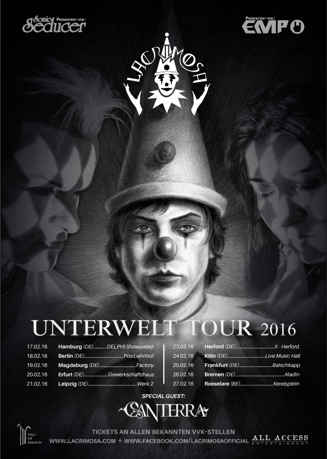Lacrimosa Canterra Tour FEB 2016
