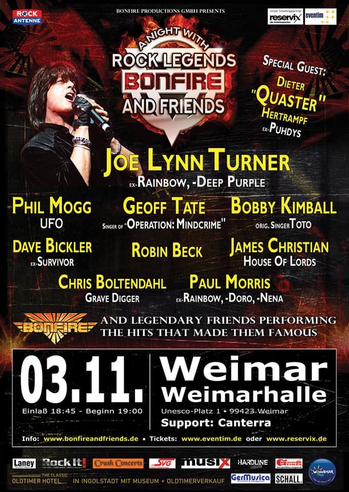 03.11.2018_Weimar_Poster_Bonfire and Friends Canterra Weimar